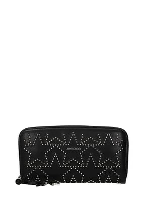 Jimmy Choo Wallets filipa Women Leather Black Silver
