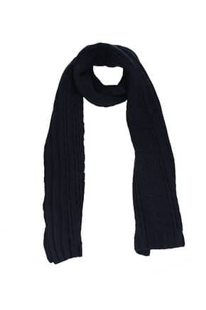 Moncler Scarves tricot Men Virgin Wool Blue