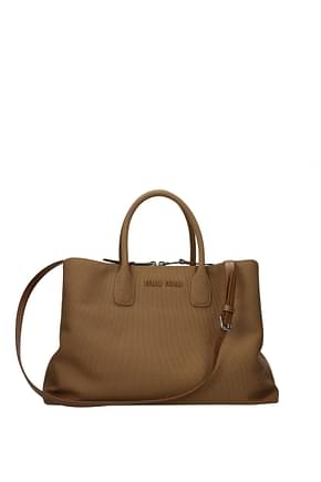 Miu Miu Handbags Women Fabric  Brown