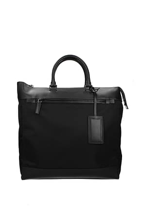 Prada Handbags Men Fabric  Black