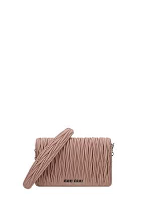 Miu Miu Clutches Women Leather Pink