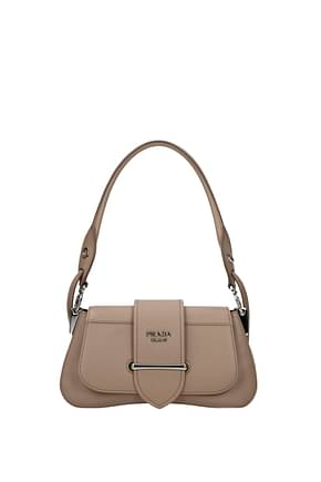 Prada Shoulder bags sidonie Women Leather Pink