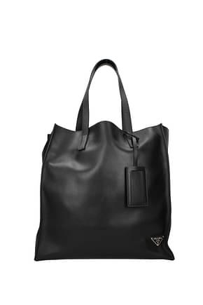 Prada Shoulder bags Men Leather Black Fire