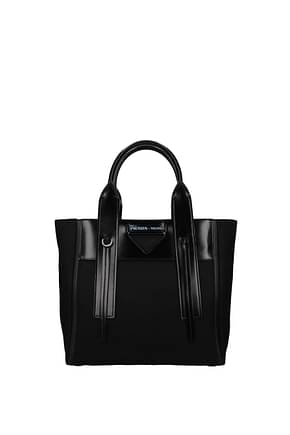 Prada Handbags Women Fabric  Black