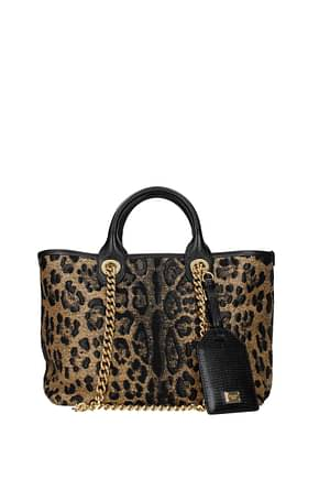 Dolce&Gabbana Handbags Women Fabric  Brown