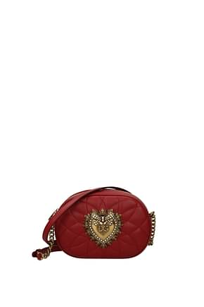 Dolce&Gabbana Crossbody Bag Women Leather Red Red