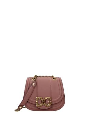 Dolce&Gabbana Crossbody Bag amore Women Leather Pink