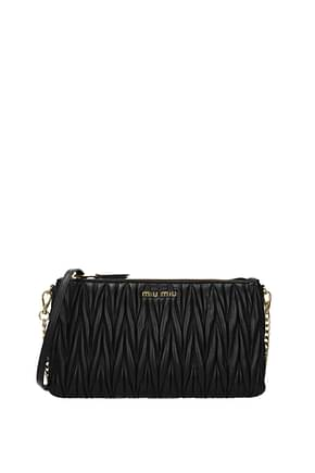 Miu Miu Clutches Women Leather Black
