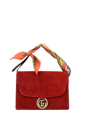 Gucci Handbags Women Suede Red