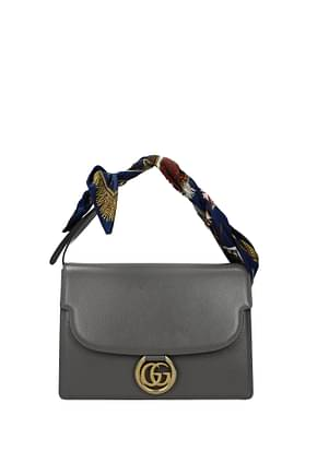 Gucci Bolsos de mano Mujer Piel Gris
