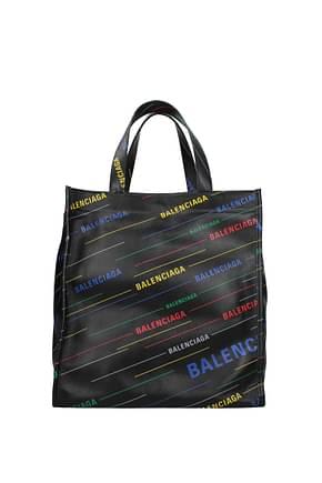 Balenciaga Handbags Men Leather Black