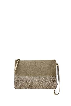 Jimmy Choo Clutches fara Women Glitter Gold