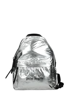 Palm Angels Backpack and bumbags Men Fabric  Silver