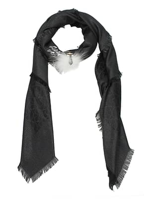 Fendi Foulard Women Silk Black
