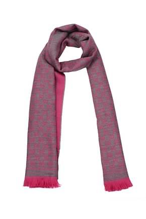 Gucci Scarves Men Wool Fuchsia