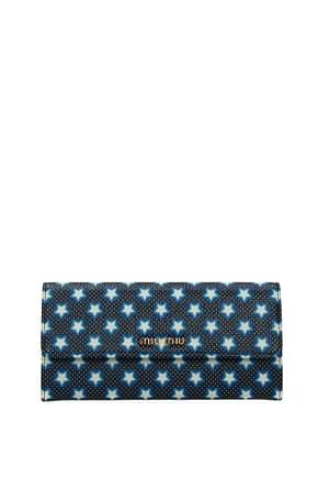 Miu Miu Wallets Women Leather Black
