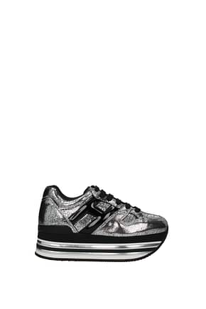 Hogan Sneakers Women Leather Silver