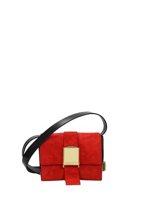 Alexander McQueen Crossbody Bag mcq Women Suede Red
