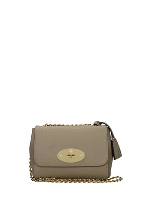 Mulberry Crossbody Bag lily Women Leather Gray Dune