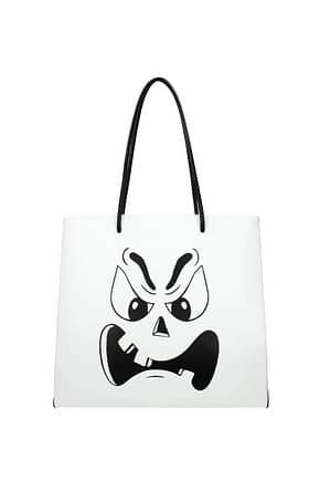Moschino Shoulder bags Women Leather White
