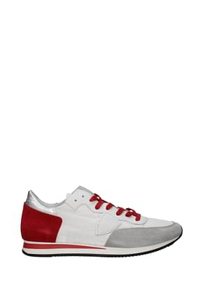 Philippe Model Sneakers tropez Men Fabric  White Red