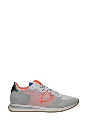 Philippe Model Sneakers trpx Men Fabric  White Silver