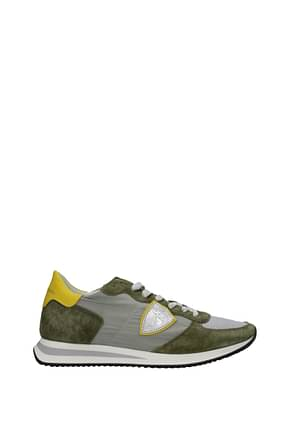 Philippe Model Sneakers trpx Men Fabric  Gray Olive