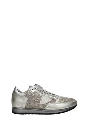Philippe Model Sneakers tropez Herren Leder Gold Silber