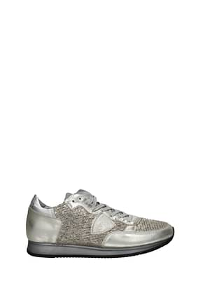 Philippe Model Sneakers tropez Men Leather Gold Silver