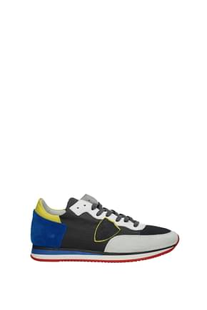 Philippe Model Sneakers tropez Men Fabric  Yellow Electric Blue