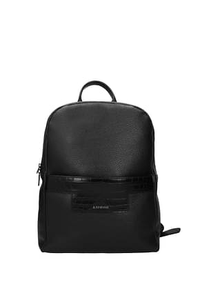 Testoni Backpack and bumbags Men Leather Black