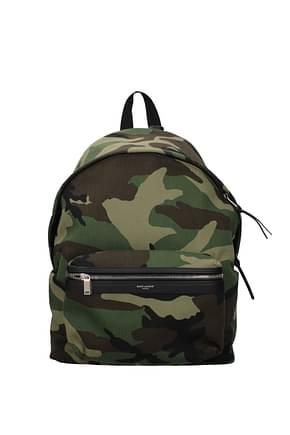 Saint Laurent Backpack and bumbags Men Fabric  Green