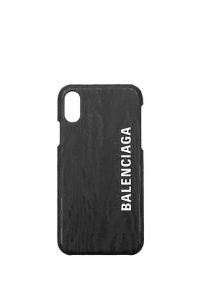 Balenciaga Fundas para iPhone iphone 10 Hombre PVC Negro