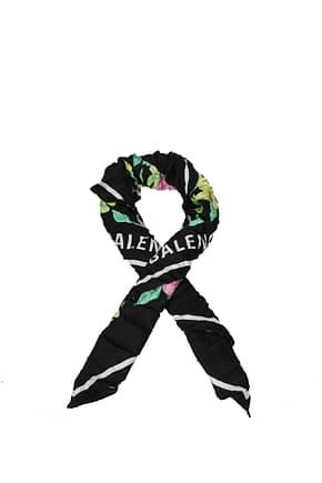 Balenciaga Foulards Damen Seide Schwarz Multicolor
