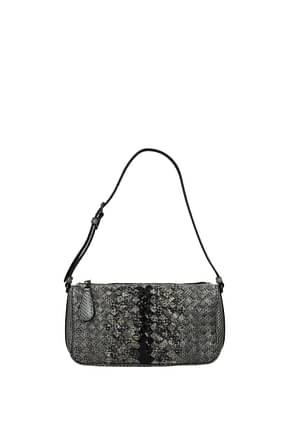 Bottega Veneta Shoulder bags Women Leather Snake Gray