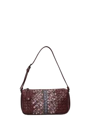 Bottega Veneta Shoulder bags Women Leather Snake Violet