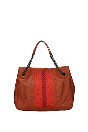 Bottega Veneta Handbags Women Leather Brown