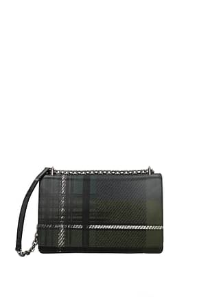 Prada Crossbody Bag Women Leather Green