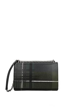 Prada Crossbody Bag Women Leather Green