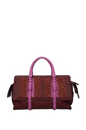 Bottega Veneta Handbags Women Leather Red