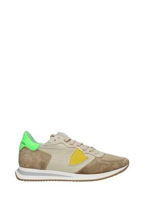 Philippe Model Sneakers trpx Men Leather Beige Fluo Green
