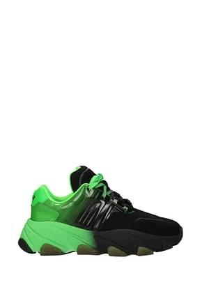 Ash Sneakers extasy Donna PVC Nero Verde Fluo