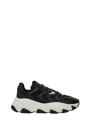Ash Sneakers extreme Donna Pelle Nero Rosa Carne