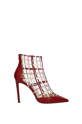 Jimmy Choo Ankle boots Women Leather Red