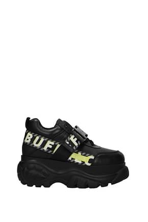 Buffalo Sneakers Women Leather Black