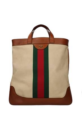 Gucci Handbags Men Fabric  Beige