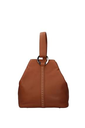 Loro Piana Shoulder bags Women Leather Brown Tan