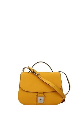 Loro Piana Crossbody Bag Women Leather Yellow Mustard