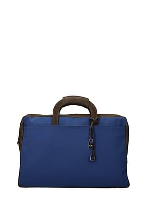 Loro Piana Work bags Men Fabric  Blue Brown
