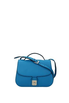 Loro Piana Crossbody Bag Women Leather Blue Blue of Burano